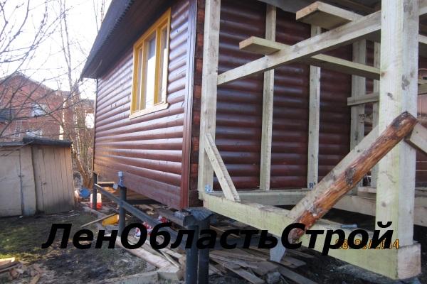веранда деревянная к дому фото