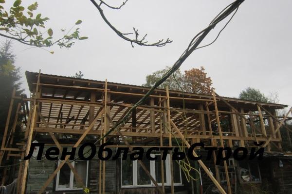 Ремонт крыши балкон
