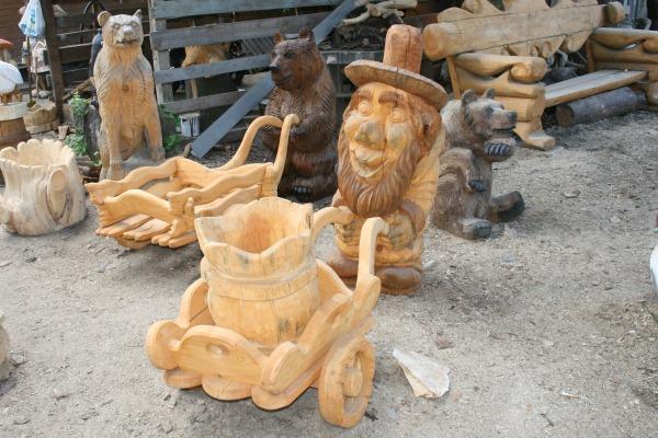 фото деревянные скульптуры